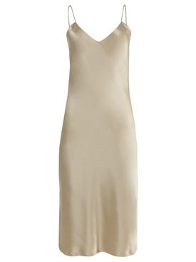Beige Satin Camisole Dress