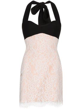 Rasario - Lace Halterneck Mini Dress - Women