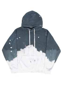 ACID WASH CHARCOAL HOODIE JUMPER