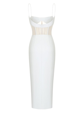 White tulle bustier dress