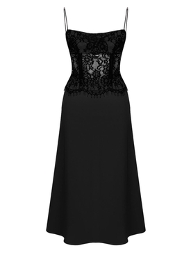 Rasario - Black Lace Corset Dress - Women