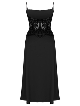 Black lace corset dress