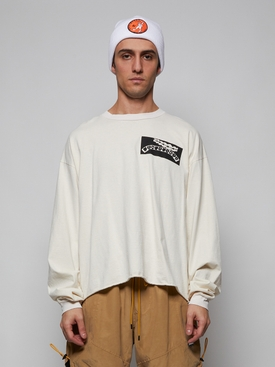 off-white cropped long sleeve t-shirt