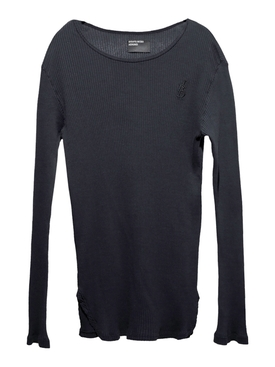 Fitted Logo Long Sleeve black