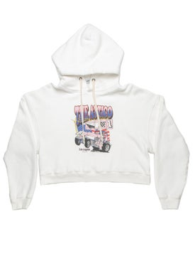 Re/done - Re/done X Attico Graphic Cropped Hoodie - Women