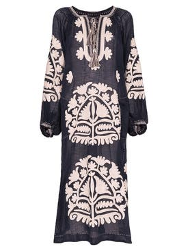 Vita Kin - Shalimar Midi Dress, Navy Cream - Women