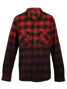 Amiri - Dip Dye Flannel Shirt Red - Men