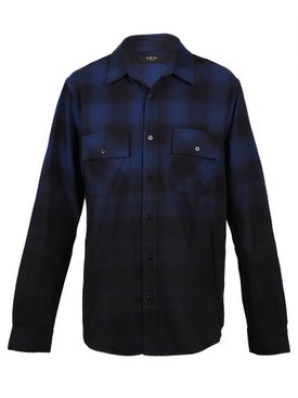 Amiri - Dip Dye Flannel Shirt Blue - Men