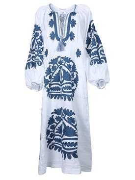 Vita Kin - Shalimar Midi Dress White And Cobalt - Women