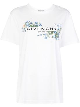 Blue Daisy Floral logo t-shirt