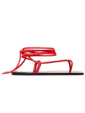 Alezio Nappa Sandal Tomato Red