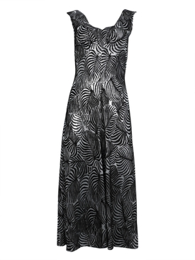 Paco Rabanne - Leaf Lurex Jersey Dress - Women