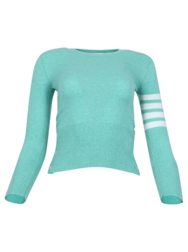 Four Bar Crewneck Light Green