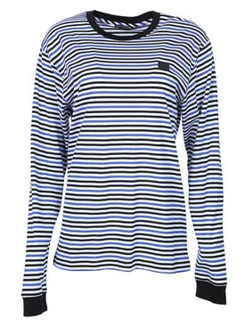 Acne Studios - Elwood Face T-shirt Electric Blue - Women
