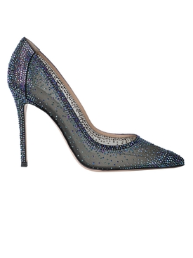 Rania Pumps Black Crystal
