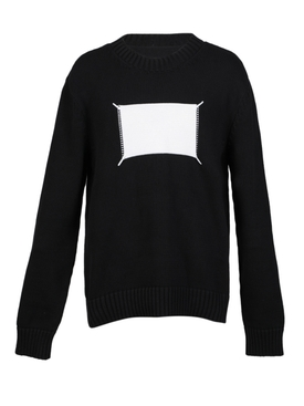 'Memory of' label knitted sweater