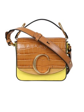 Chloé - Mini C Box Bag, Joyful Yellow - Women