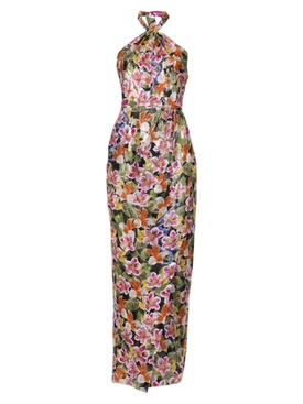 Alyona tropical floral print dress