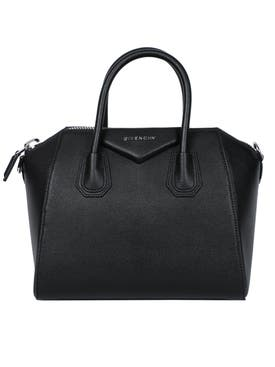 Givenchy - Small Pebbled Leather Antigona Bag Black - Women