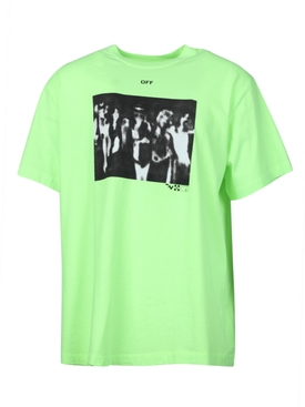 FLUORESCENT YELLOW SPRAY PAINT T-SHIRT