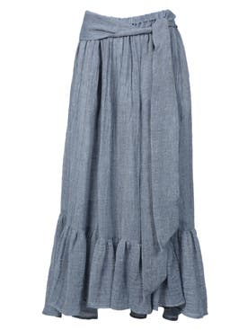 Lisa Marie Fernandez - Nicole Skirt, Blue - Women