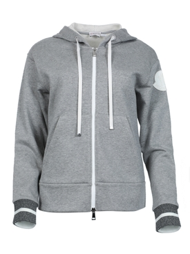Zip Through Hoodie, grey
