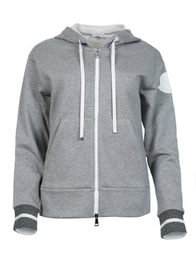 Moncler - Zip Through Hoodie, Grey - Women