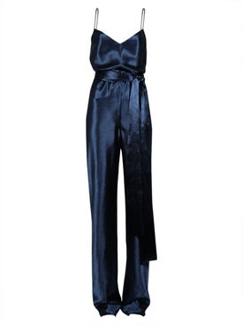 Galvan - Metallic Blue Jumpsuit - Women