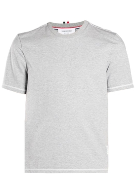 Thom Browne - Classic Side Slit T-shirt Light Grey - Men
