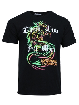 Black dragon print t-shirt