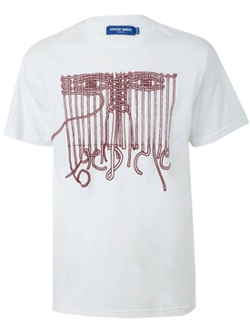 White lace me up t-shirt