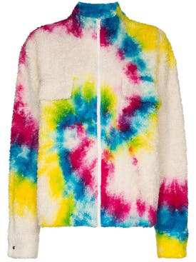 The Elder Statesman - Tie-dye Sherpa Jacket Sherbert Swirl - Men