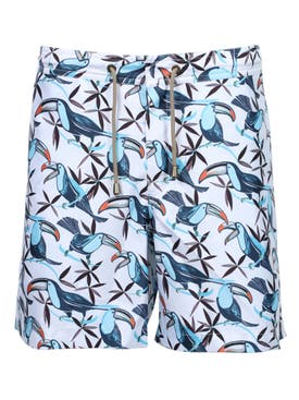 Thorsun - Multicolored Toucan Print Swim Trunks - Men