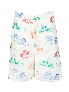Mickey X Gucci linen shorts