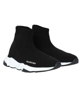 Kids SPEED sock High top SNEAKERS BLACK