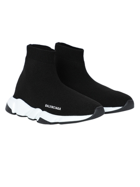 Balenciaga - Kids Speed Sock High Top Sneakers Black - Kids
