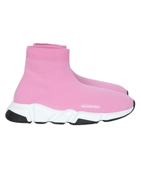 Balenciaga - Kids Speed Sock High Top Sneakers Pink - Kids