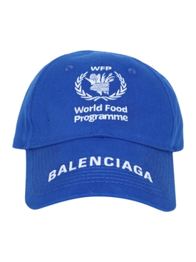 Balenciaga - Wfp Logo Cap Royal/white - Men