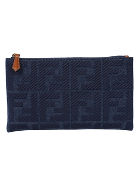 Fendi - Small Ff Denim Logo Pouch - Women