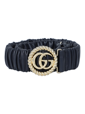 Gucci - Navy Gg Marmont Belt - Women