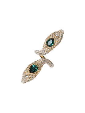 Gucci - Crystal Embellished Snake Ring - Women