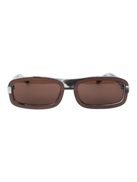 Linda Farrow - X Y/project Brown Rectangular Sunglasses - Men