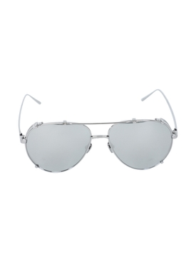 White gold newman aviator sunglasses