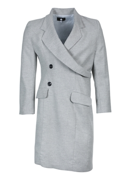 Grey wrap around coat