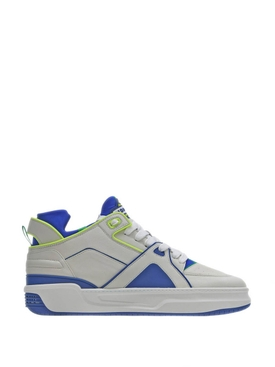 Tennis Courtside Mid White, Blue and Neon Yellow