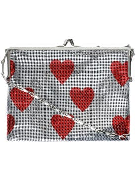 Paco Rabanne - Red Hearts Pixel Frame 1969 Mesh Bag - Women