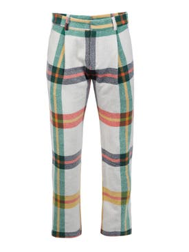 The Elder Statesman - Tartan Pleat Cali Trousers - Men