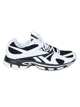 Black and White Spike Runner 200 Sneakers