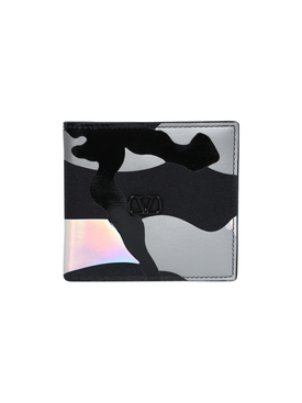 reflective camo billfold wallet