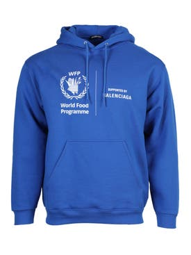 Balenciaga - World Food Programme Logo Hoodie Saphir Blue - Men